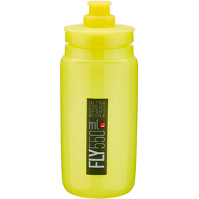 Elite Fly Borraccia 550ml, yellow/black logo